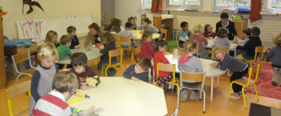 Bouton maternelle